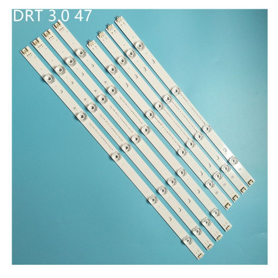 8 قطعة/المجموعة LED شريط إضاءة خلفي ل LG innotek DRT 3.0 47 بوصة ab 6916L-1715A 1716A 47LB653V 47LB652V 47LB650V 47LB631V 47LB630V