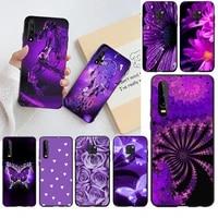 cutewanan infinity on purple diy painted bling phone case for huawei p30 p20 lite mate 20 pro lite p smart 2019 prime
