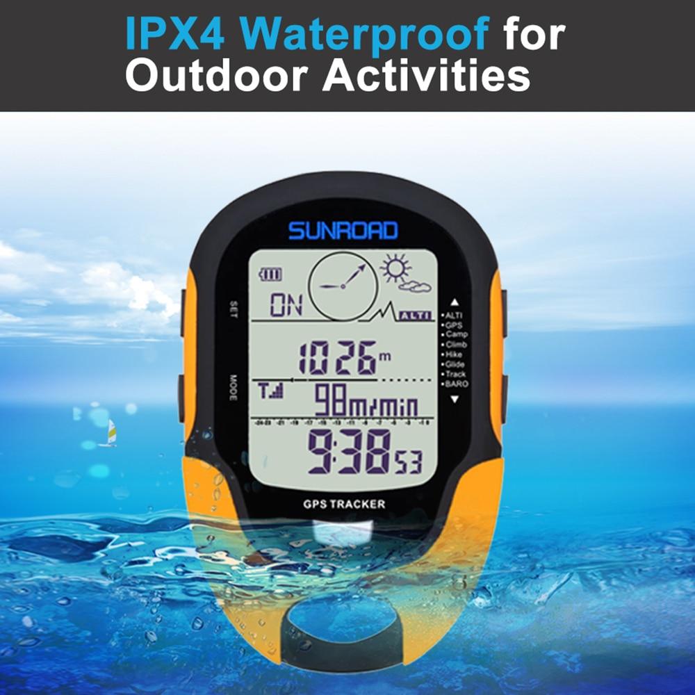 Digital GPS altímetro barómetro brújula senderismo supervivencia militar brújula portátil al aire libre Camping senderismo escalada altímetro