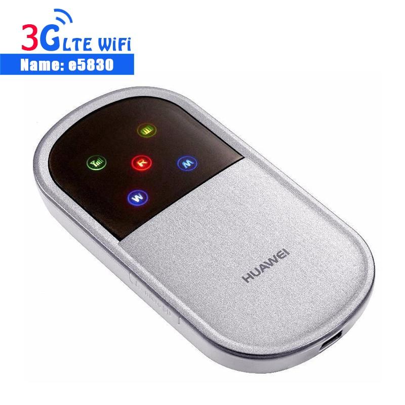 Desbloqueado HUAWEI E5830 E587 3G 7,2 Mbps Router WiFi 3G Modem Mobile Hotspot bolsillo con ranura para tarjeta SIM