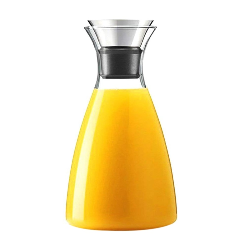 Glas Drip-Gratis Karaf Met Flip-Top Deksel, Warm En Koud Glas Water Pitcher, thee/Koffie Maker & Cafe, Ijsthee, Drank Pitcher
