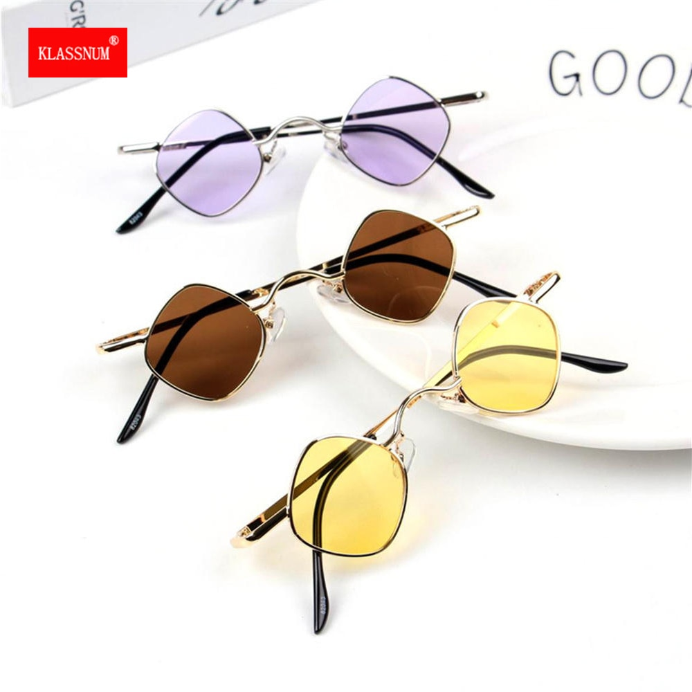 Children Vintage Sunglasses Rhombus Metal Small Frame Steam Punk Sunglasses Girls Boys Sunglasses An