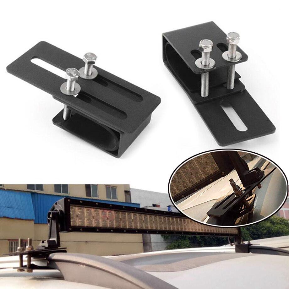 1 par de soporte de montaje Universal para portaequipajes de coche SUV soporte de barra de luz de techo portalámparas LED todoterreno