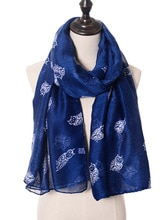 2015 New Fashion Cute Owl Print Scarves Shawls Women Long Animal Scarf Wrap Hijab 7 Color Free Shipping