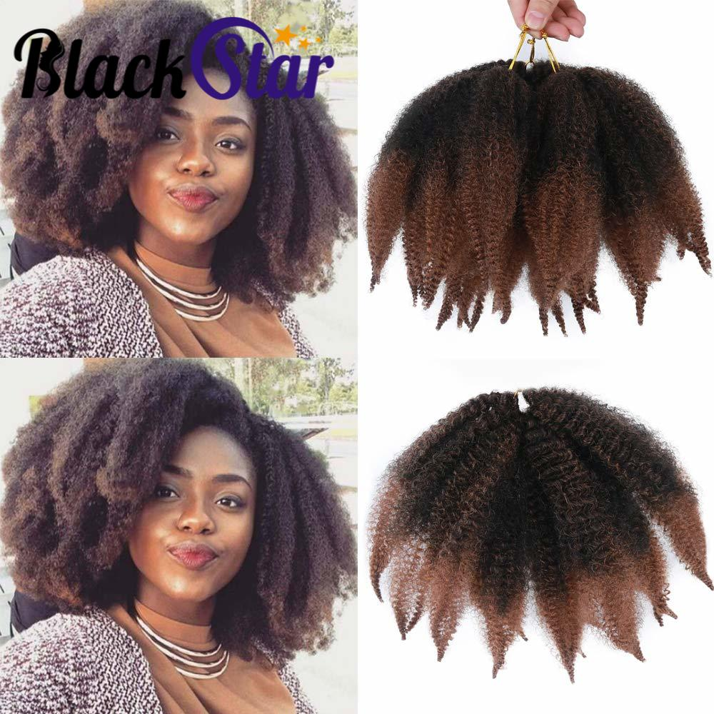 Afro Kinky Twist Crochet Marley Braiding Hair braids 8inch Short Synthetic Extensions
