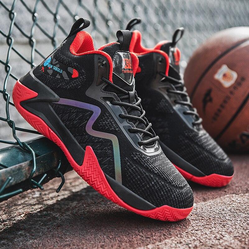 Баскетбольная обувь, мужские кроссовки, уличная Светоотражающая спортивная обувь для баскетбола и культуры, Высококачественная Баскетбол...