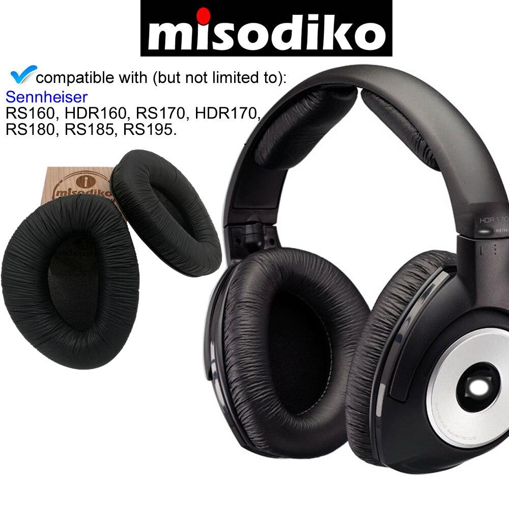 Almohadillas de repuesto para auriculares misodiko, cojín para Sennheiser RS160, HDR160, RS170, HDR170, RS180, RS185, RS195