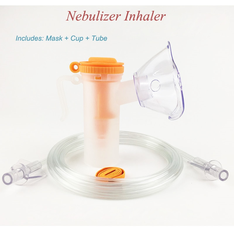 Medical Children Adult Household Disposable Atomizer Mask Atomizing Cup Connecting Pipe Tube Accessories for Nebulizer Inhaler