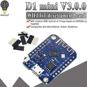 Плата для разработки Wemos D1 Mini V3.0.0 WIFI на основе ESP8266 CH340 CH340G 4 Мб для Arduino Nodemcu V2 MicroPython