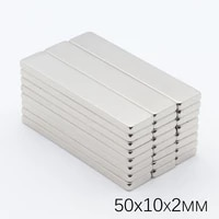 40pcs 50x10x2 mm neodymium magnet box packed magic magnetic buck cube permanent super powerful magnetic magnets square