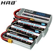 HRB 4S Lipo Batterie 14,8 V 2200mAh 3300mah 4000mah 5000mAh 6000mAh 30C 50C Deans AKKU für RC Auto Quadcopter Hubschrauber Flugzeug