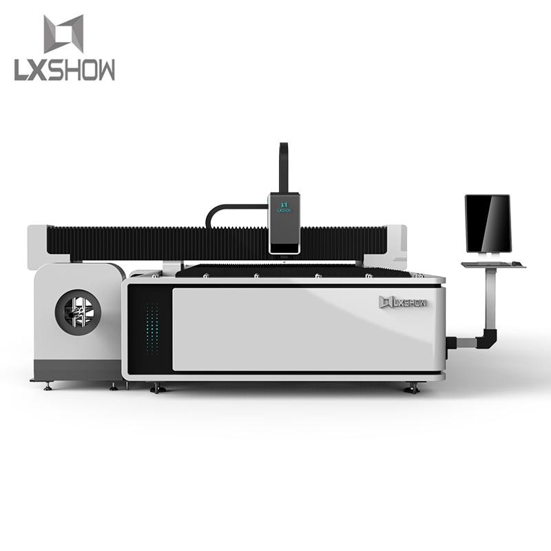 Precio barato descuento máquina cortadora láser de fibra hoja de metal tubo de corte con mesa de intercambio