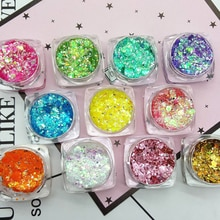 19 Color Glitter Eyeshadow Powder Nail Hair Body Face Gel Long Lasting Eye Shadow Festival Party Mak