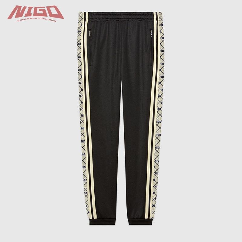NIGO GC Classic LOGO Pattern Casual Pants Code@G6