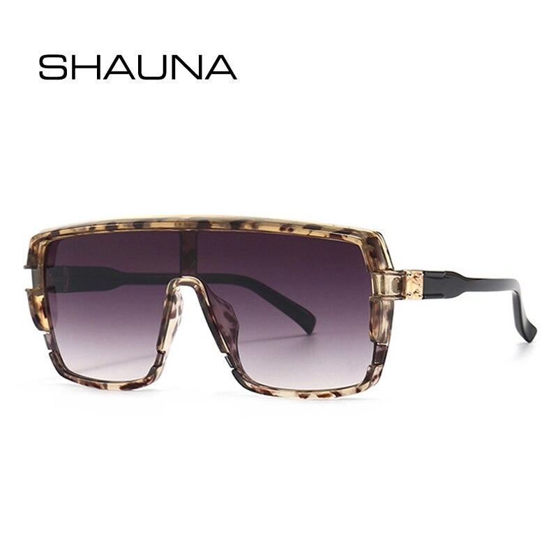 SHAUNA Fashion Oversized Square One Piece Women Sunglasses Retro Brand Designer Gradient Eyewear Sha
