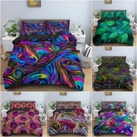 abstract 3d printing psychedelic bedding set 3d duvet cover bed set pillowcase bed cover linens bedclothes home textile