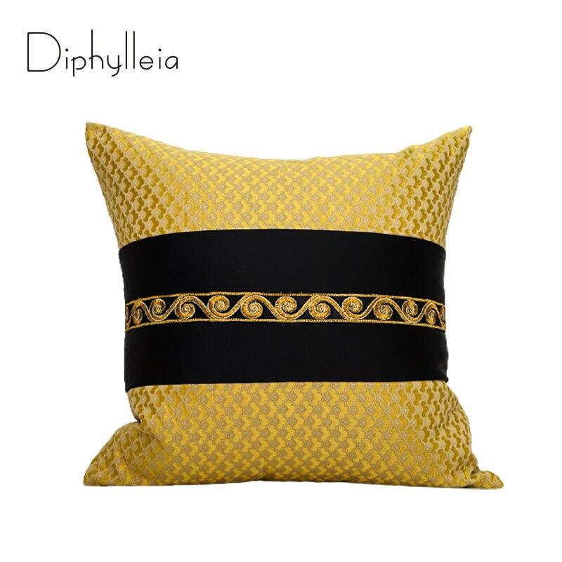 Diphylleia الذهب أكياسها الحديثة هندسية اليونانية نمط الفاخرة ميدوسا نمط وسادة يغطي ل أريكة الأريكة غرفة المعيشة ديكور