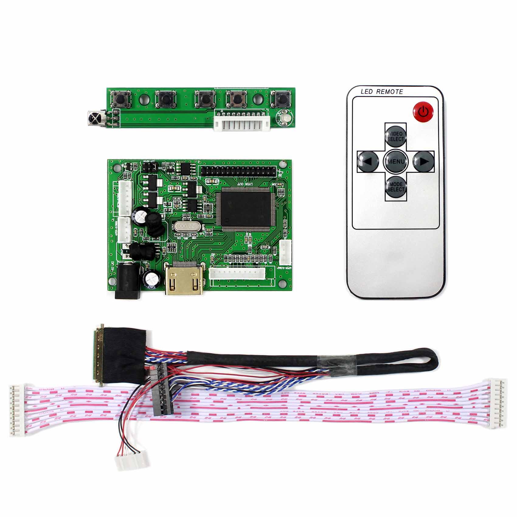 Tablero de Control Latumab, Kit de Monitor LTN140AT02/LP140WH1/B140XW01 HDMI LCD, controlador de placa LED
