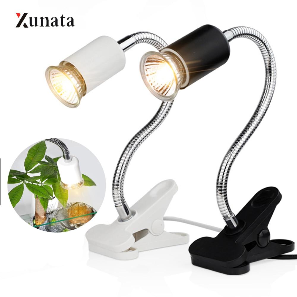 Kit de lámpara de reptil de 220V con soporte de luz de cerámica con Clip UVA + UVB 3,0 calentamiento UV de tortuga conjunto de luces de lagartos de tortuga