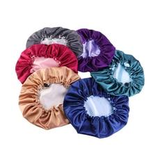 Adjustable Satin Bonnet Sleep Cap Silky Satin Cap For Night Sleeping Hair Bonnet Waterproof Shampoo