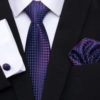 hot sale high grade nice handmade wholesale jacquard 7 5 cm silk necktie set tie dot wedding accessories man fit business