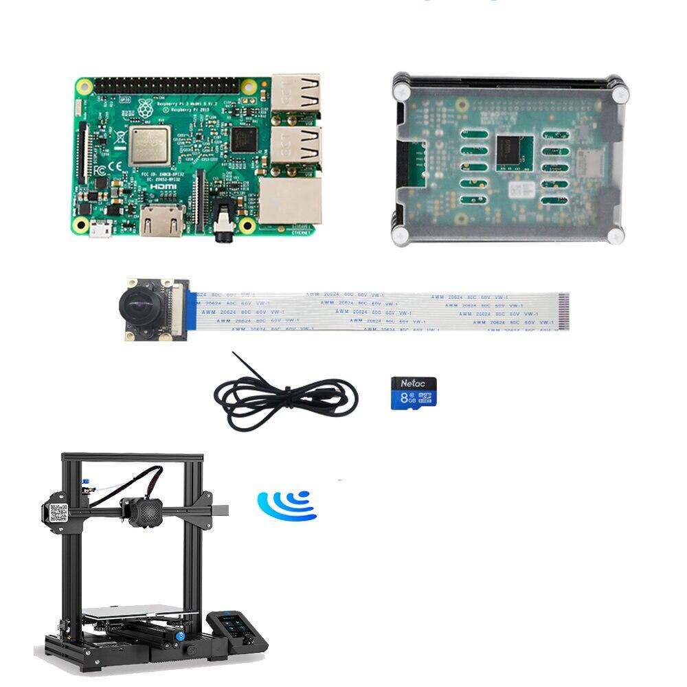 كرياليتي ثلاثية الأبعاد راسبيري Pi 3rd الجيل B 9-layer أكريليك مجموعة الكاميرا التحكم على الانترنت تقطيع في الوقت الحقيقي مراقبة الكاميرا