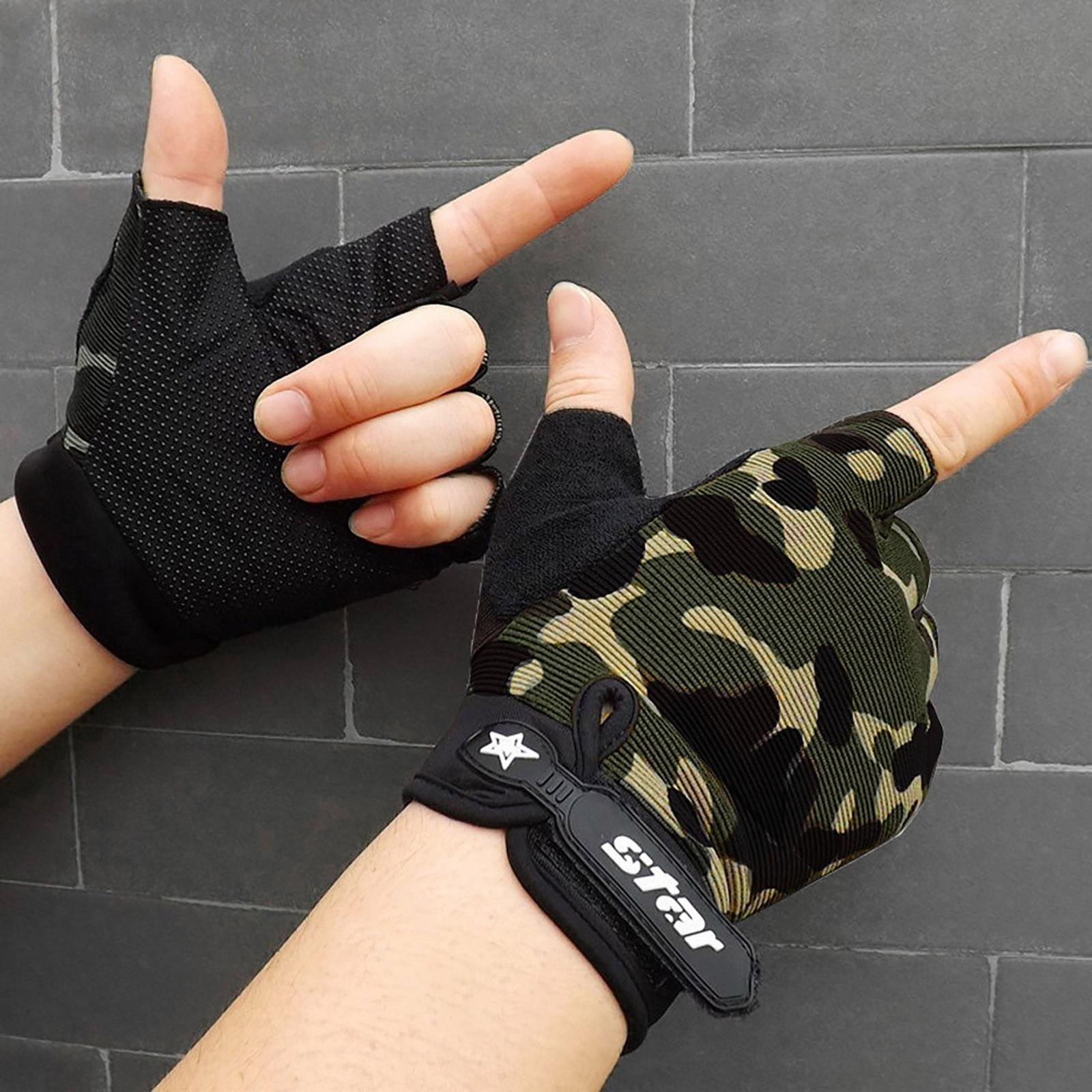 Shockproof GEL Pad Cycling Gloves Half Finger Sport Men Women Summer Bicycle Gym-Fitness MTB Bike