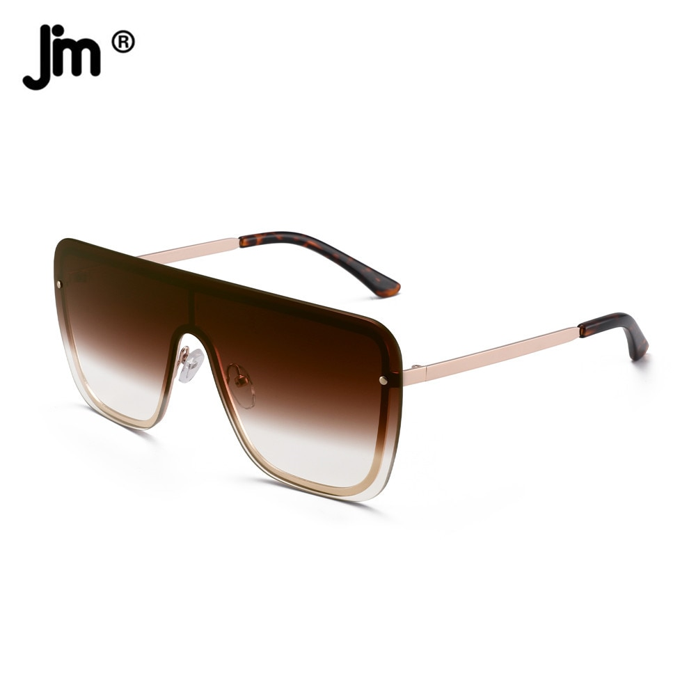 Fashion Women Men Oversized Sunglasses Brand Designer Vintage Shield UV400