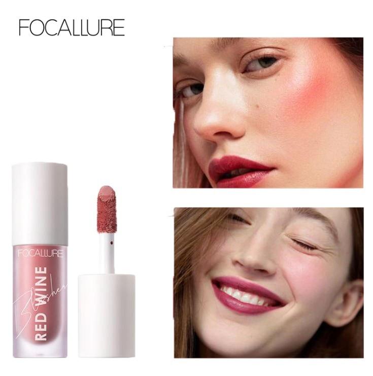 Focallure Liquid Blush 4 Colors Natural Cheek Face Make Up Long Lasting Waterproof Moistrurised Matte blusher liquid blush