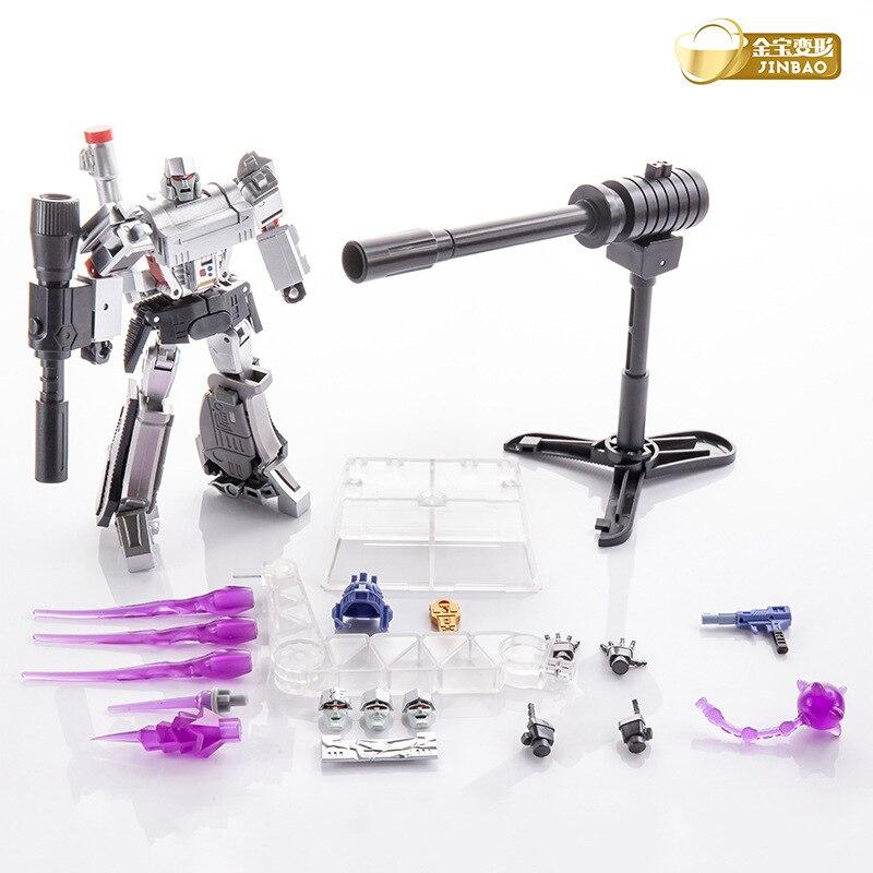 Jinbao transformación Galvatron Megotroun versión de Metal Mgtron H9 modo pistola G1 Mini guerrero de bolsillo acción figura Robot con caja
