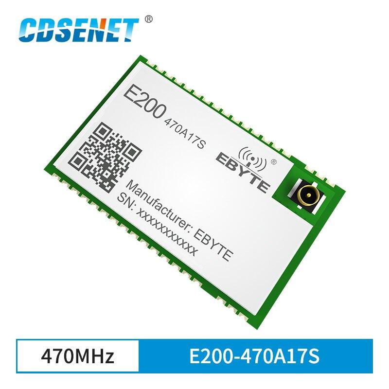 Módulo de transmissão de áudio placa amplificador falante de transmissão 17dbm 470mhz longa distância cdsenet E200-470A17S ipex selo buraco
