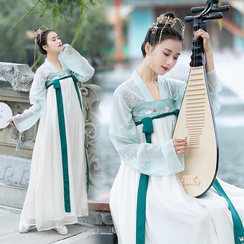 Классическая элегантная зеленая Женская юбка с вышивкой и принтом hanfu elements shu
