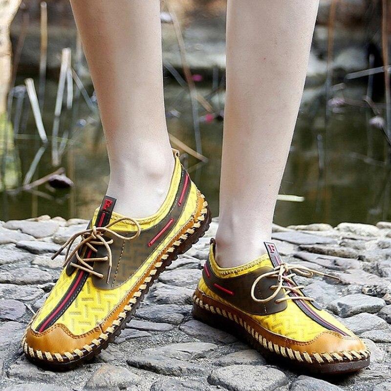 2021 جديد حذاء رجالي بلون بولي Stitching خياطة شبكة الدانتيل متابعة في الهواء الطلق موضة الشباب المياه والأرض شاطئ أحذية رياضية غير رسمية 3KC297