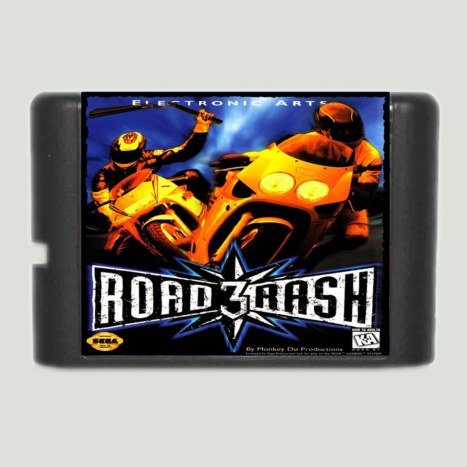 Road Rash 3  Game Cartridge Newest 16 bit Game Card For Sega Mega Drive / Genesis System