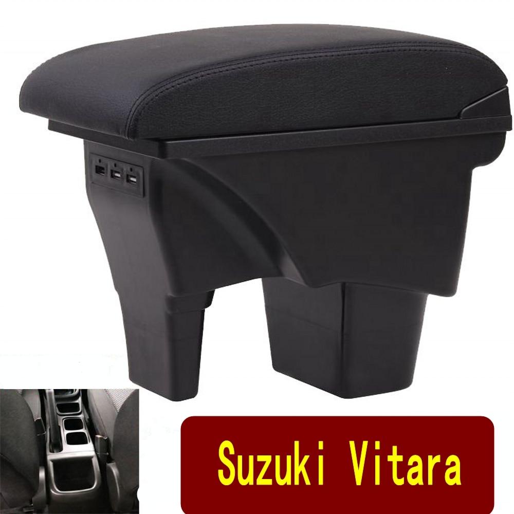 صندوق مسند ذراع السيارة العالمي ، ملحقات تعديل caja ، مع USB مزدوج