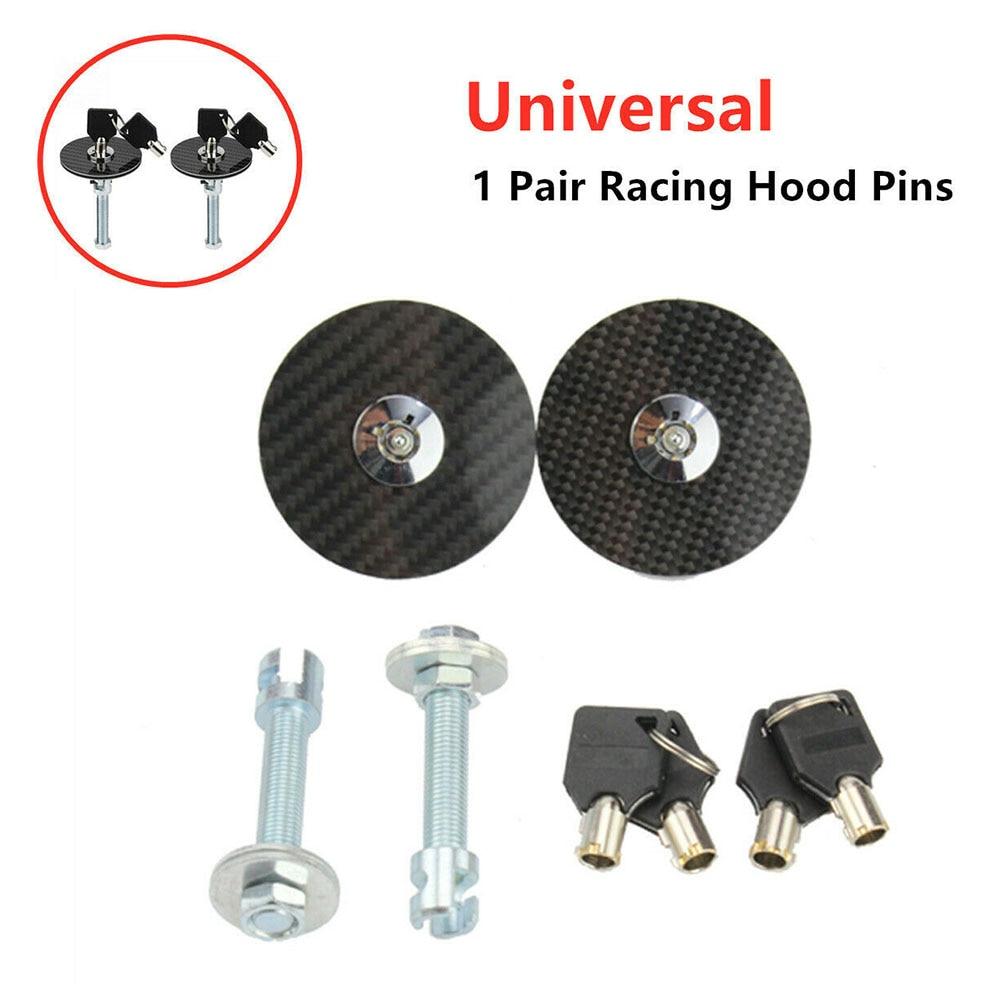 Cubierta de bloqueo tapa de bloqueo Kit de reemplazo Universal 2 uds Set negro Racing Bonnet