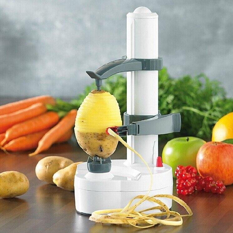 Pelador eléctrico Rotato Express de acero inoxidable pelador de manzanas pelador de frutas y patatas cuchillo automático
