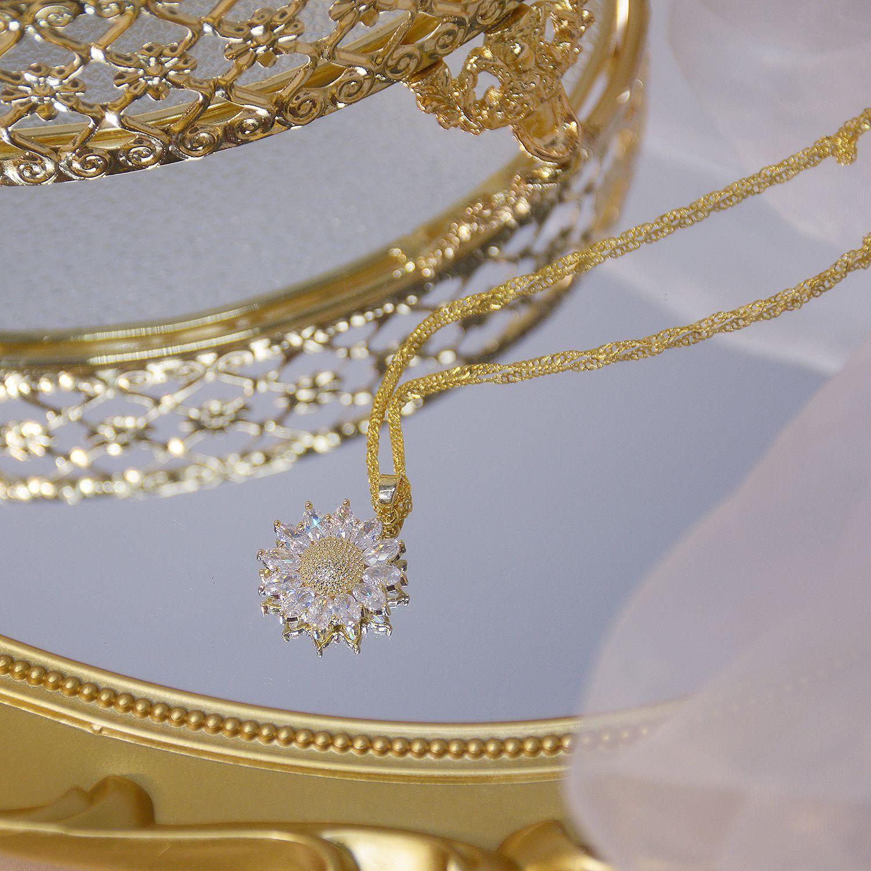 Côté brillant nouveaux accessoires cristal fleur pendentif et colliers pour les femmes Style Simple cadeau zircone Daisy colliers