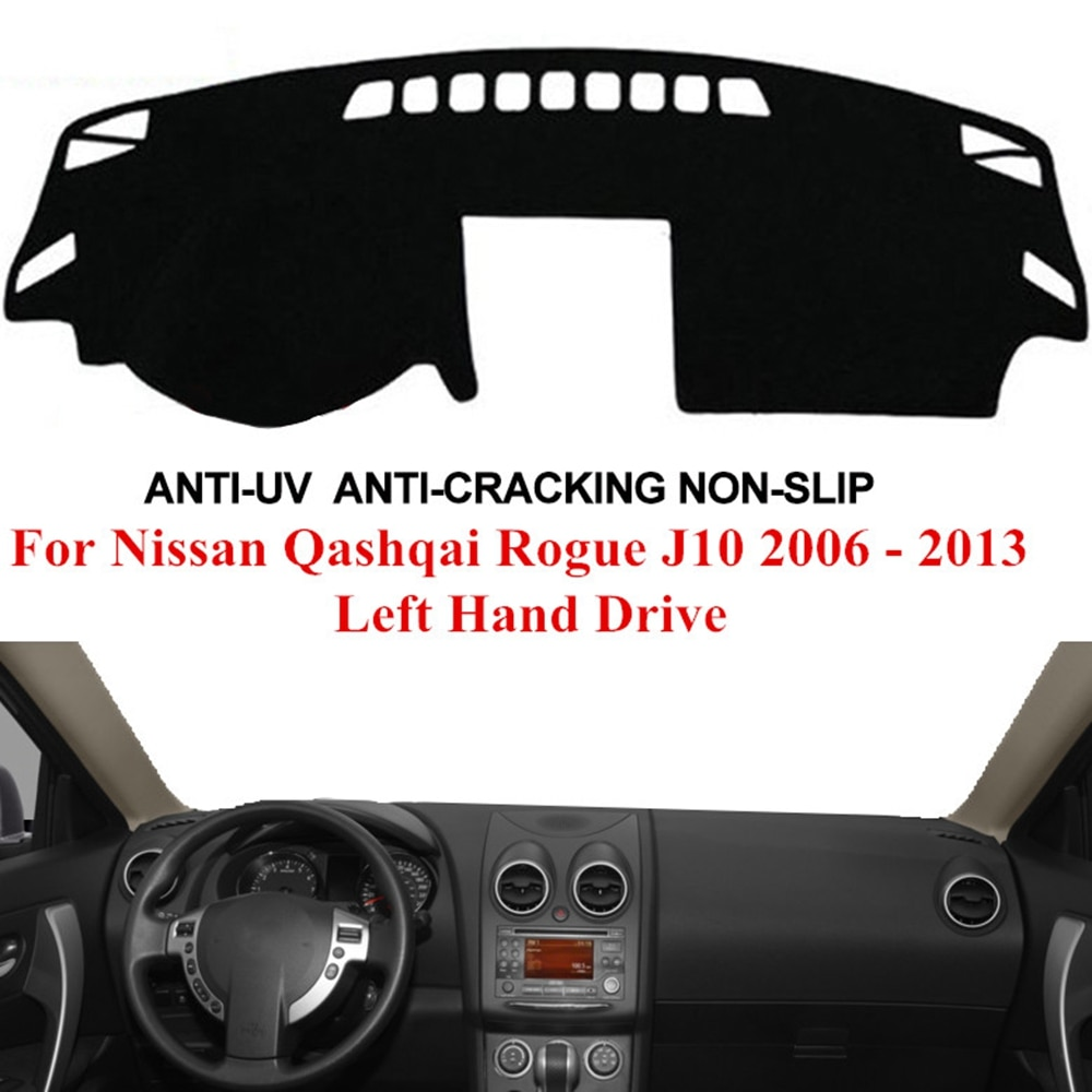 Painel do carro capa traço esteira traço placa almofada tapete dashmat anti-uv para nissan qashqai rogue j10 2006 2007 2008 2009 - 2013