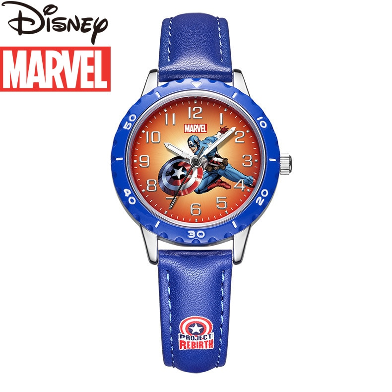 Original Marvel Spider-Man Captain America Boys Watch Quartz Watch Sports Watch Cute Watches