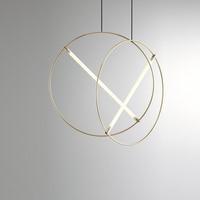 Villa Stairs Led Pendant Lights Acrylic Circles Lustre Pendant Light Wood Pendant Lamp Led Drop Light Hang Lamp Suspend Lamp