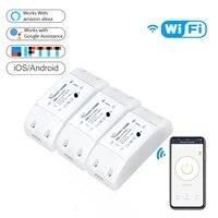 Commutateur Wifi Portable intelligent  telecommande vocale  Compatible avec lapplication Alexa Google Assistant  bricolage de votre maison via un telephone intelligent
