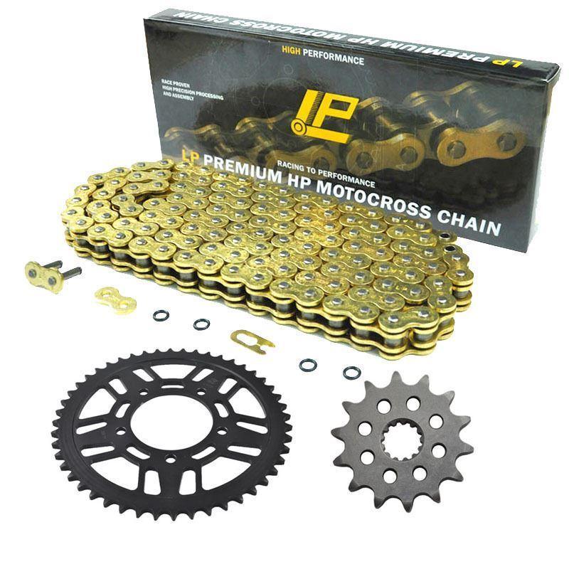 Conjunto de cadena de piñón delantero y trasero para motocicleta 520 Kit para Husaberg TE125 FE250 TE250 TE300 FE350 FE390 FE450 Enduro FX450