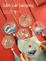 diy car handmade pendant cross stitch embroidery material safety charm hanging cross stitch needlework ornaments talismans
