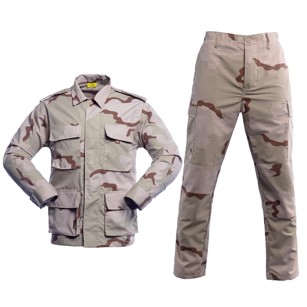 BDU Tactical Camouflage Military Uniform Clothes Suit Men US Army clothes Airsoft Combat Shirt + Cargo Pants
