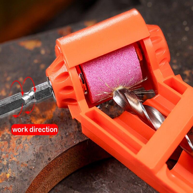 Corundum Resisting Drill Polishing Grinder Wheel Tool  Drill Bit Sharpener Portable Corundum Grinding Wheel Tool for 2-12.5mm