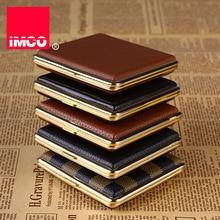 IMCO-boîte en cuir pour cigarettes, 20 étuis portable, conteneur de rangement pour accessoires de fumeurs