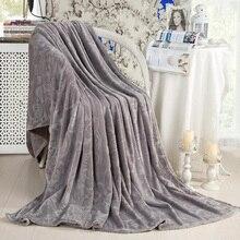 Couverture de flanelle Super douce couleur unie   Couvertures de canapé, de literie, Plaid couette de voyage de voiture, drap de lit pour bébé, couvertures de matelas