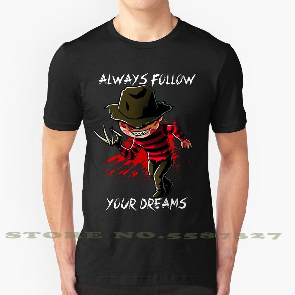 Camiseta de moda Freddy Nightmare Elm Street Cool Design, camiseta Freddy Krueger escalofriante, personajes divertidos de Halloween, leyenda de terror