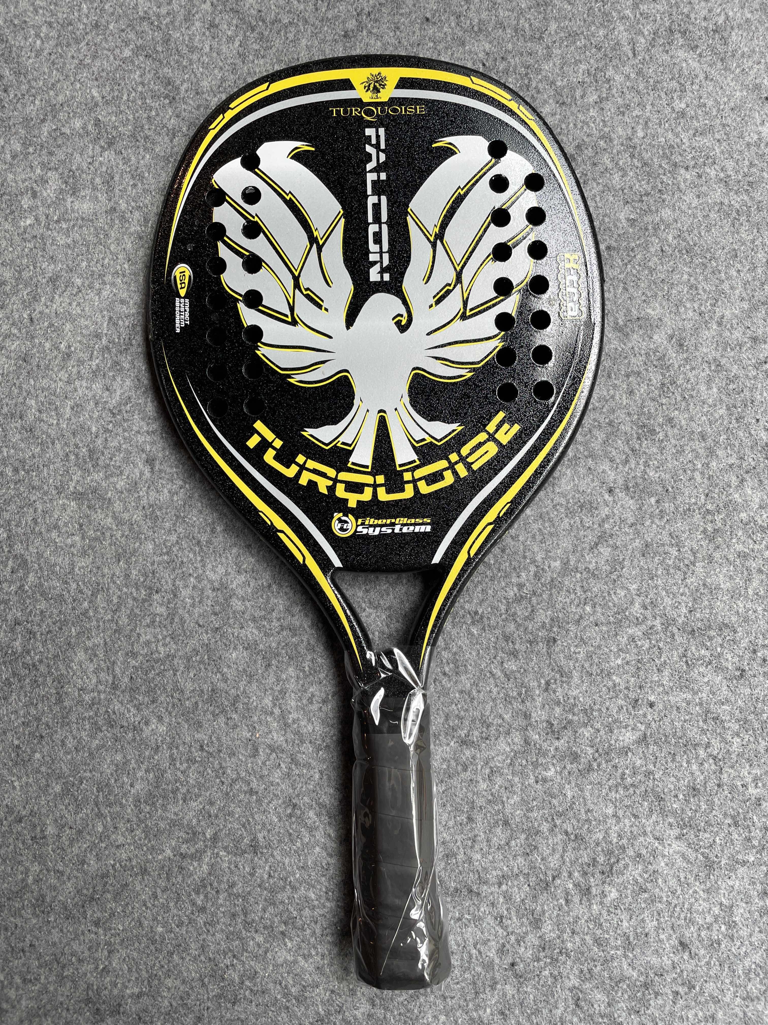 Beach Tennis Racket Professional Tennis Racquet Paddle Carbon Tennis Padel Turquoise Beach Dampener Raquete De Tennis MBT